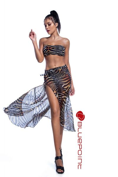 ANIMAL PRINT STRAPLESS BANDEAU -2106601 19