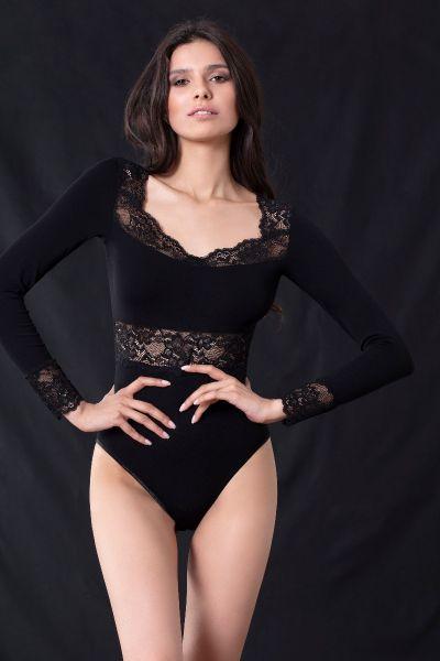 Μακρυμάνικο Body Μαύρο