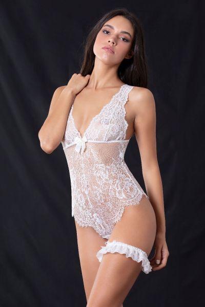 Body Bikini Δαντέλα Ιβουάρ