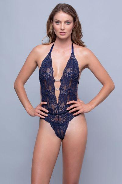 Body String Μπλε -2414BL