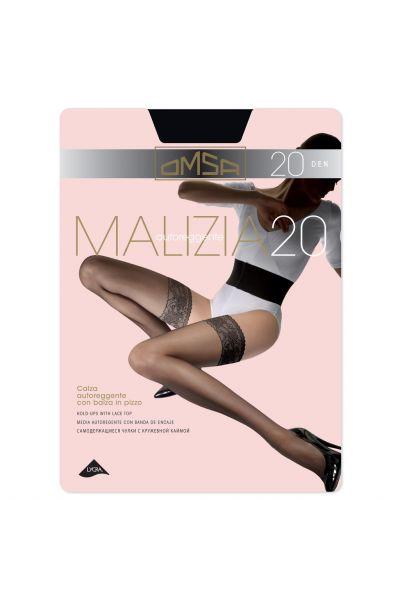 Κάλτσες-καλτσοδέτα 20DEN, Μαύρο - 258
