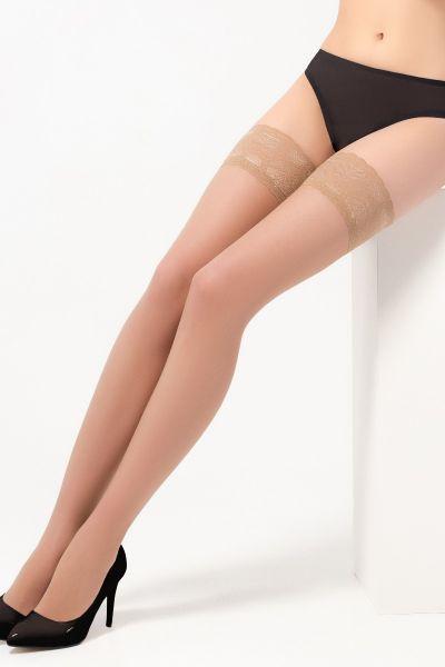 Κάλτσες-καλτσοδέτα 15DEN, Sabbia - 228N