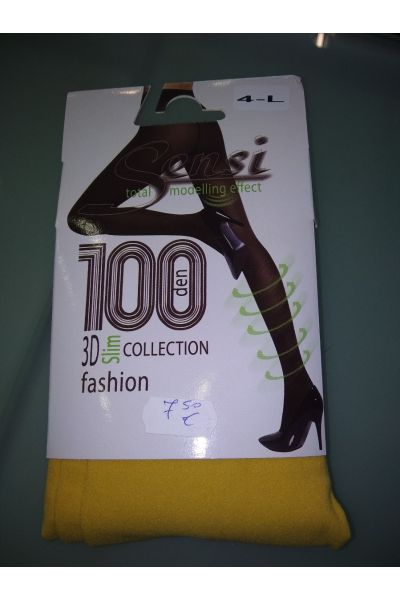 3D Slim collection, 100 DEN, Μουσταρδί - 551Y