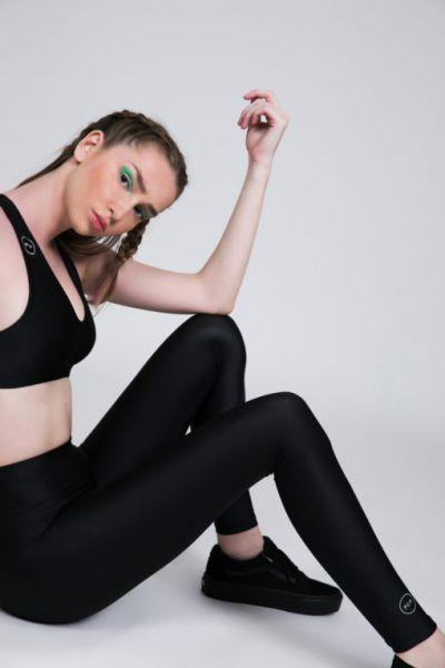 PCP-Jacqueline shiny Black κολάν.