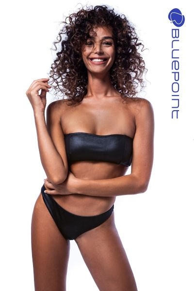 """LEATHER TOUCH"" BANDEAU BIKINI TOP"